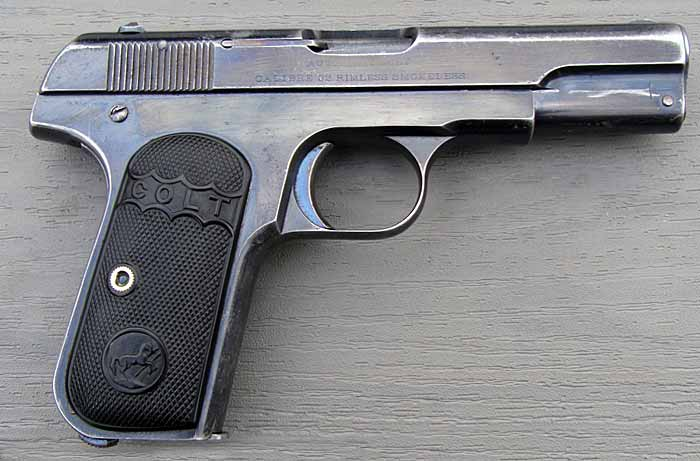 Пистолет Colt M1903 Hammerless Pocket, вид справа