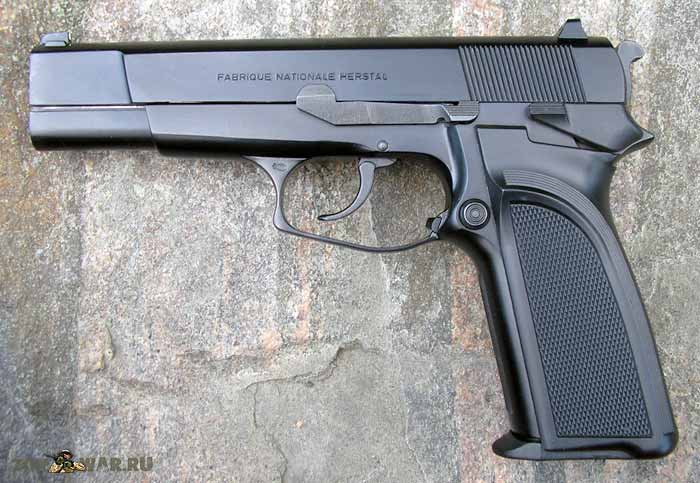 Пистолет FN Browning HP-DA, вид слева