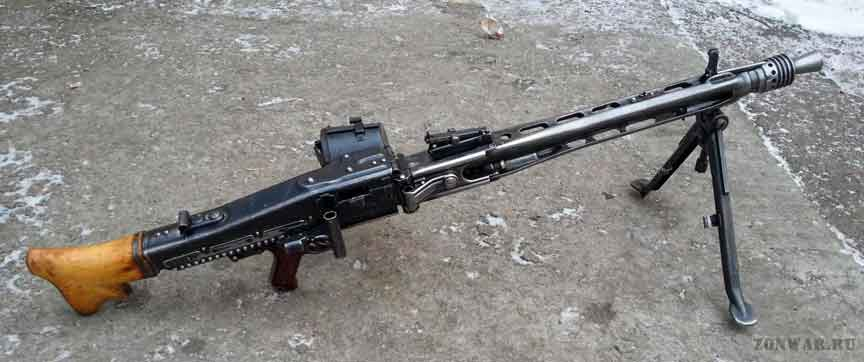 Пулемет Grossfuss MG 42 на сошках
